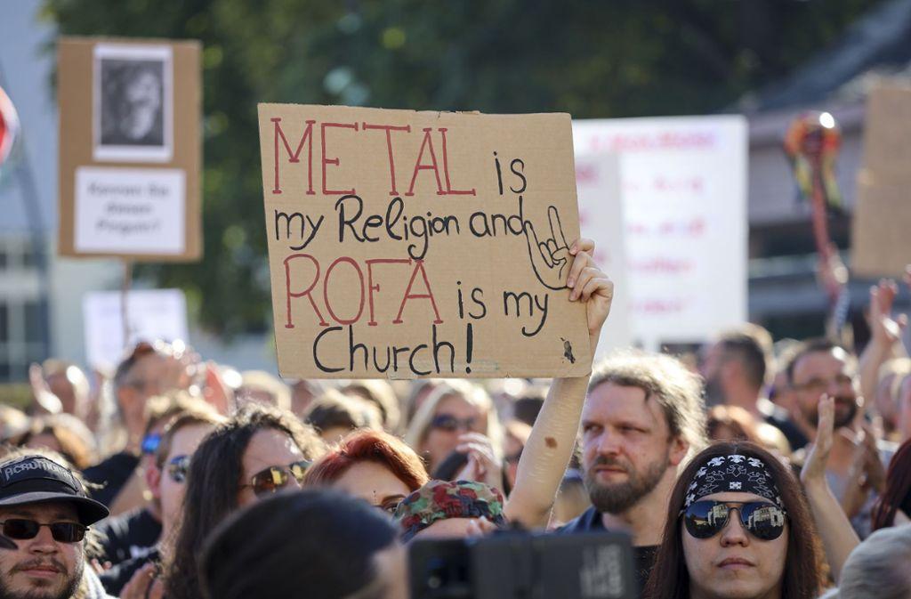 Die Demonstration für die Rockfabrik im September hat viele mobilisiert. Foto: factum/Simon Granville