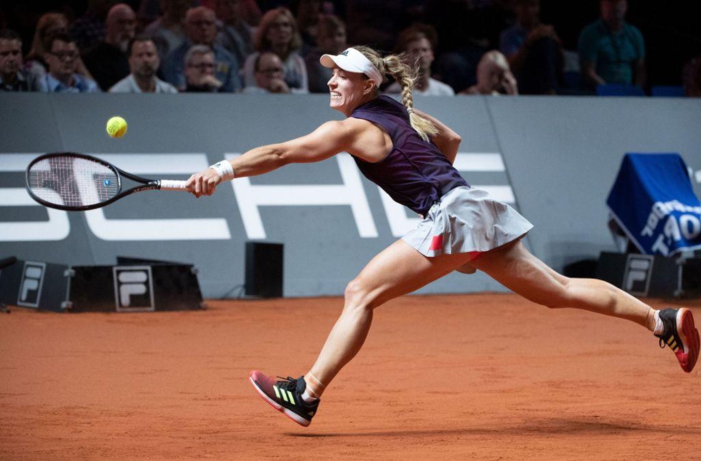 Angelique Kerber beim WTA-Turnier in Stuttgart. Foto: dpa