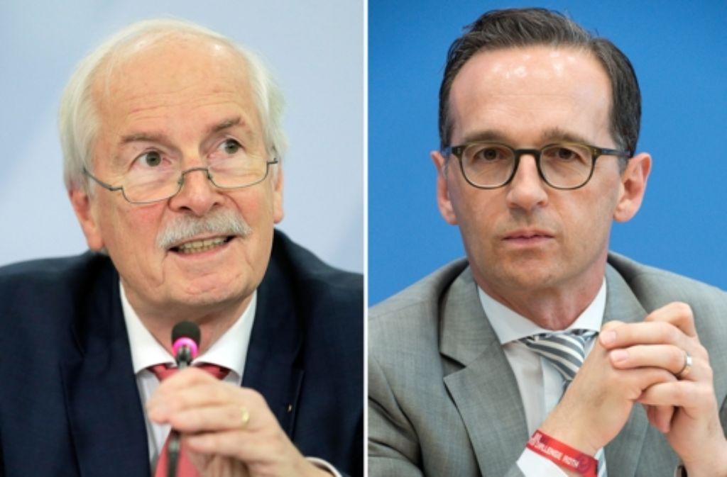 Bundesjustizminister Heiko Maas (rechts) hat den Generalbundesanwalt Harald Range geschasst. Foto: dpa
