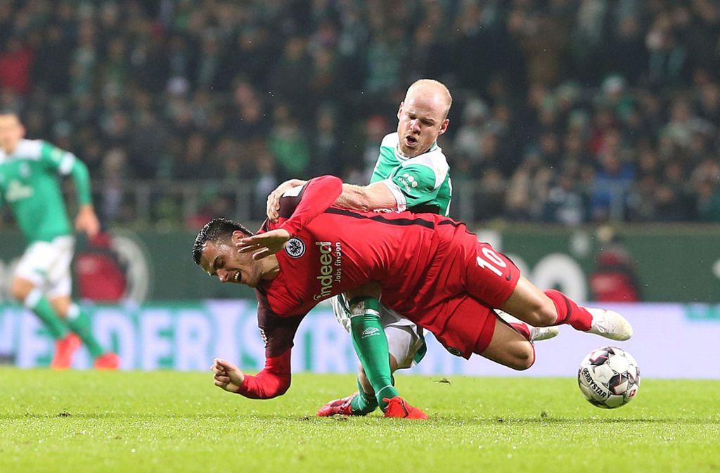 Für das Spiel zwischen Werder Bremen und Eintracht Frankfurt gibt es noch keinen neuen Termin. Foto: Bongarts/Getty Images/Cathrin Mueller