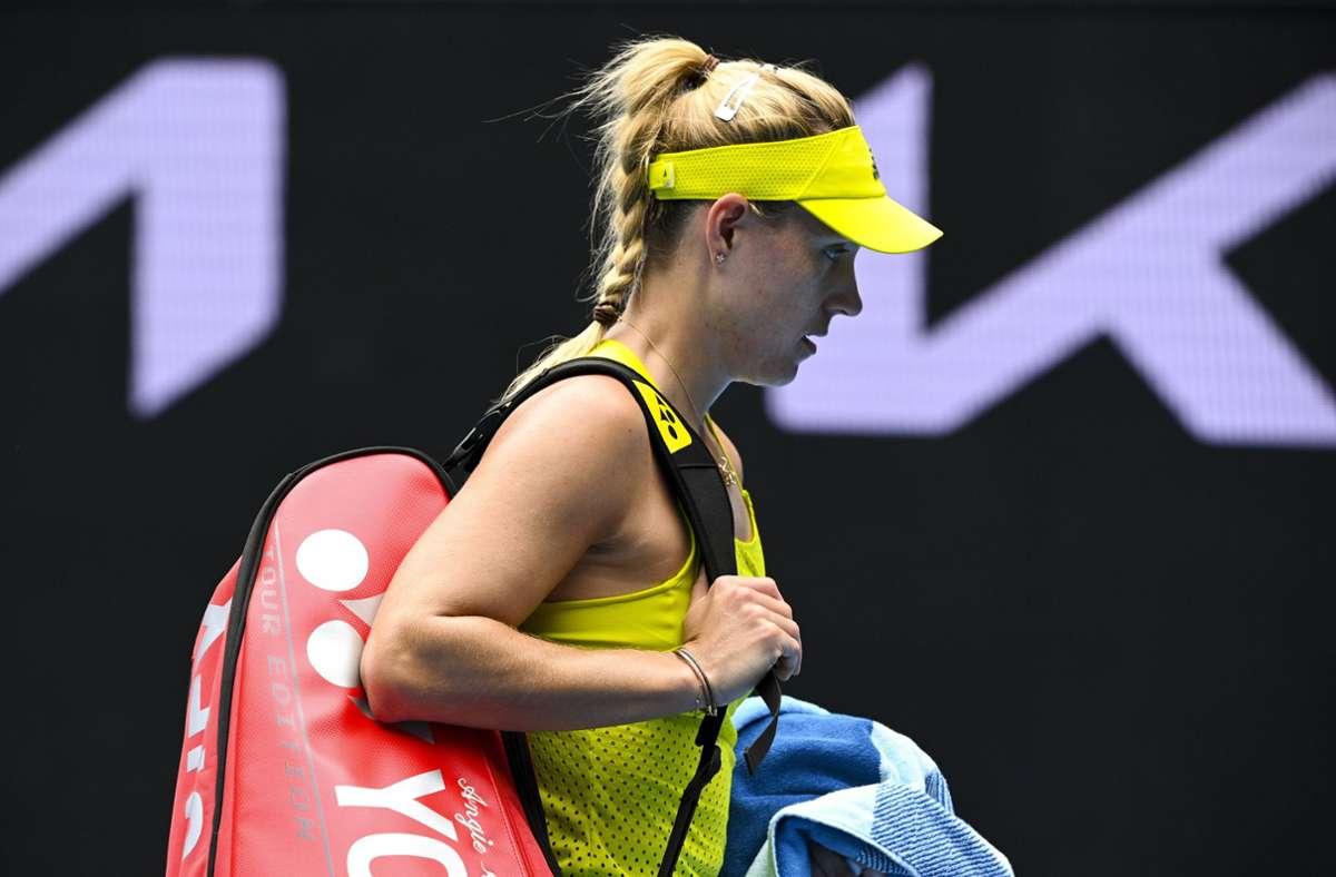 Für Angelique Kerber verlief das Turnier enttäuschend. Sie schied bereits in Runde eins gegen Bernarda Pera aus. Foto: imago images/AAP