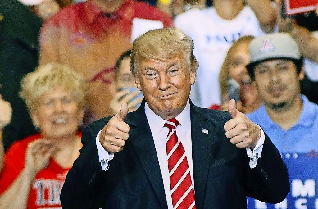 Donald Trump ist mit sich zufrieden – zahlreiche Parteifreunde Foto: Getty