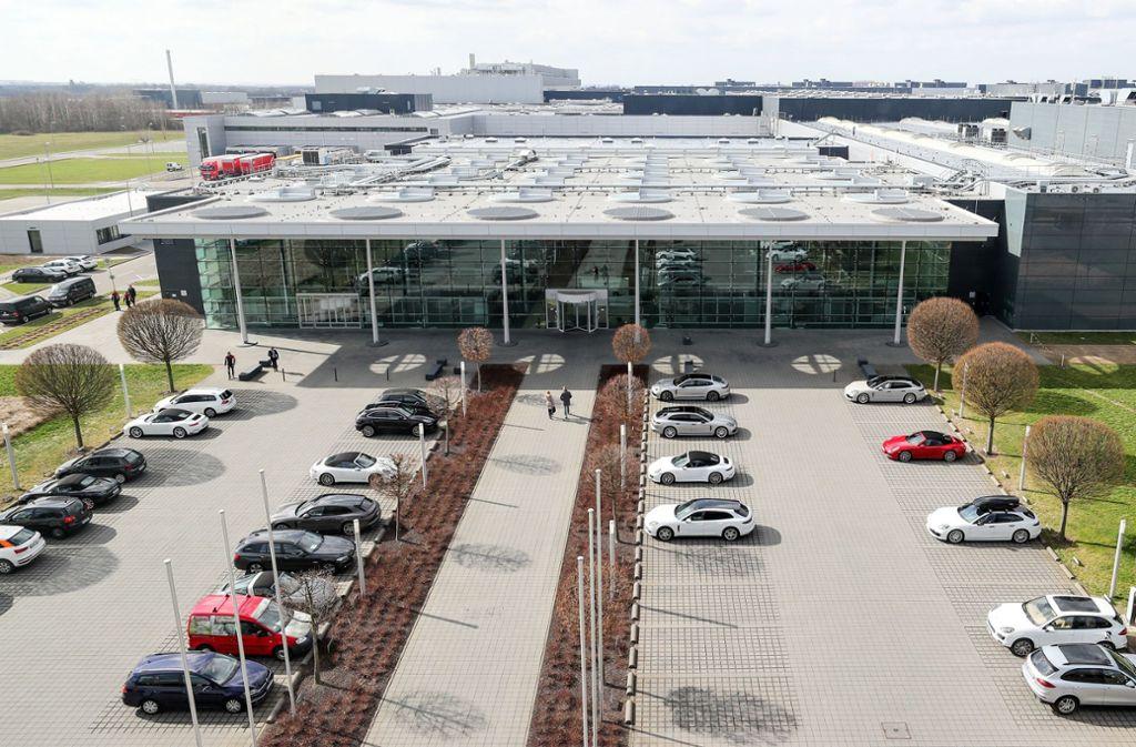 In Leipziger Standort streicht Porsche die Nachtschicht. Foto: ZB