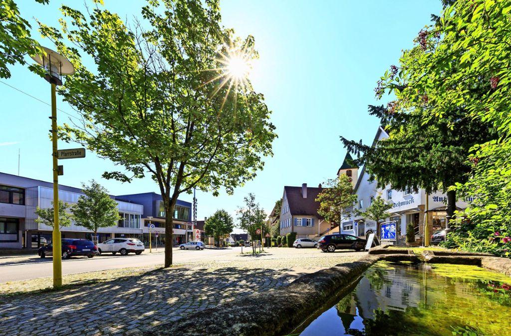 Die Aufenthaltsqualität im Ortskern von Plattenhardt zu verbessern,  ist eines der Ziele des Stadtteilkonzepts und der Sanierung. Foto: Archiv Thomas Krämer