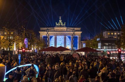 Zwischenfall bei Berliner Mauerfall-Show