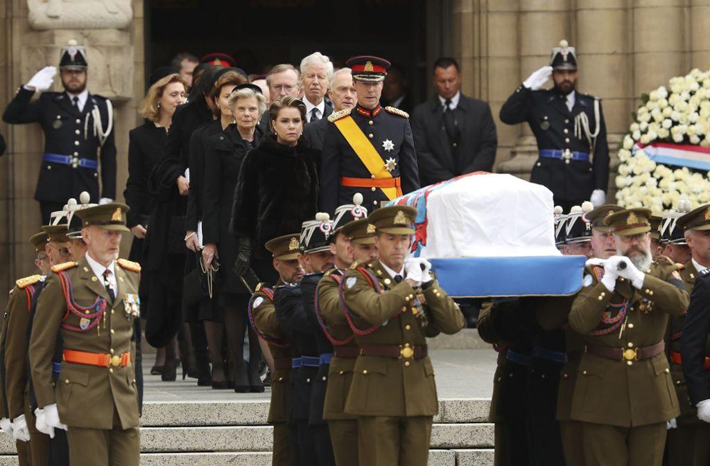 Zahlreiche gekrönte Häupter aus dem Ausland sind zum Staatsbegräbnis von Altgroßherzog Jean von Luxemburg gekommen. Foto: dpa
