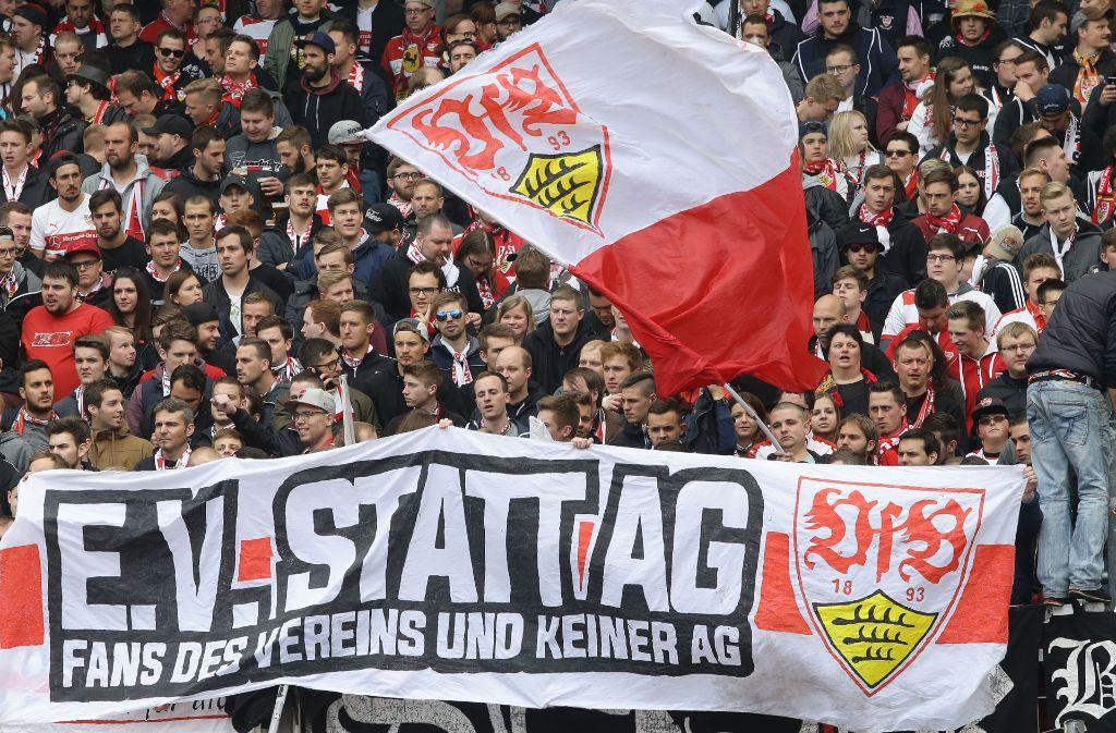 Die Ultras des VfB haben eine klare Meinung zur Zukunft ihres Vereins. Foto: Baumann