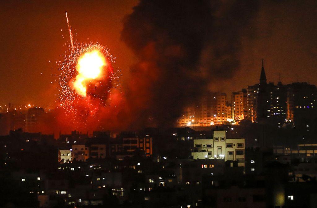 Nach Angaben der israelischen Armee wurden rund 150 Raketen aus dem Gazastreifen in Richtung Israel abgefeuert. Foto: AFP