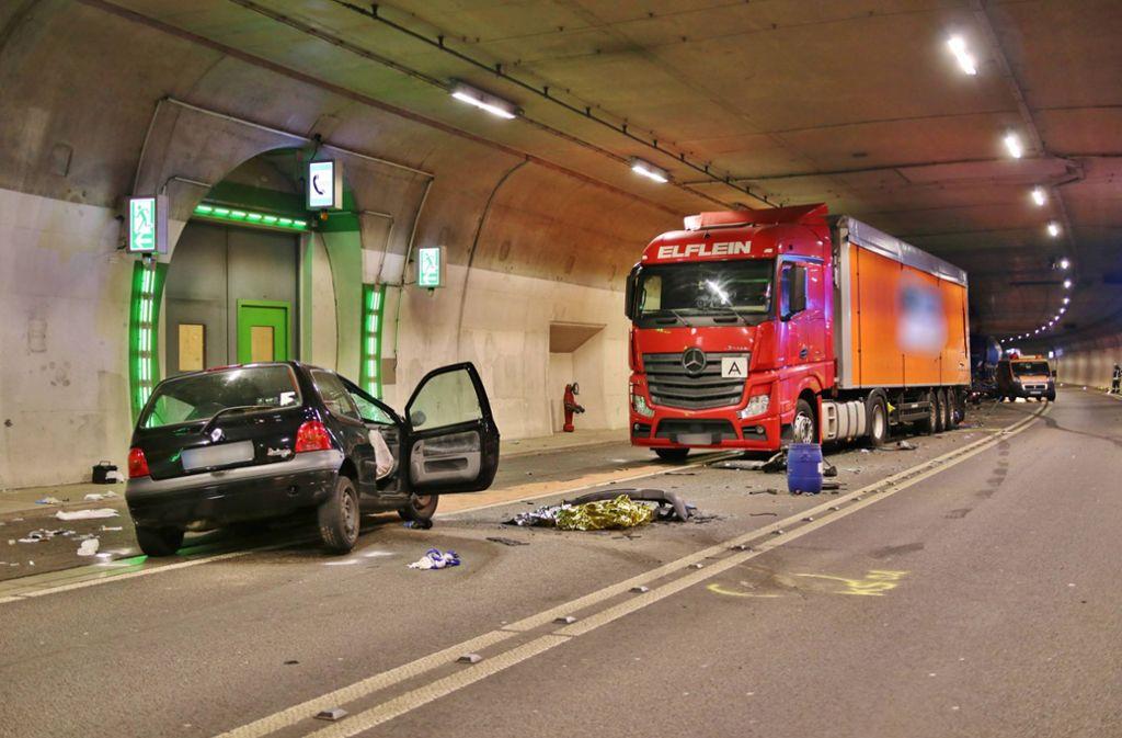 Der 55-jährige Twingo-Fahrer war beim Unfall Ende August lebensgefährlich verletzt worden. Foto: 7aktuell.de/Kevin Lermer