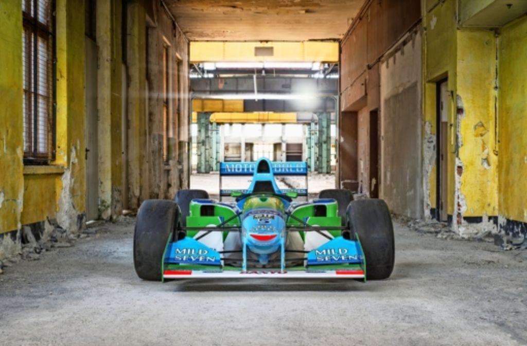 Mit dem Benetton Ford  B 194-5 hat  Schumi den ersten WM-Titel errungen. Foto: Bildermeister