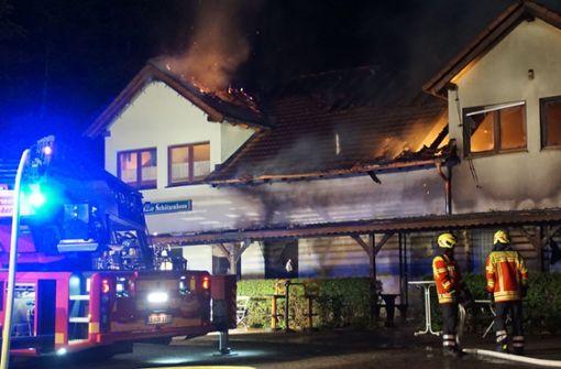 Hoher Schaden nach Brand in Schützenhaus