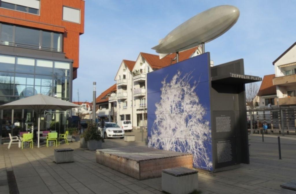 In Echterdingen gibt es einen Platz, der nach dem Grafen benannt ist. Foto: Häusser
