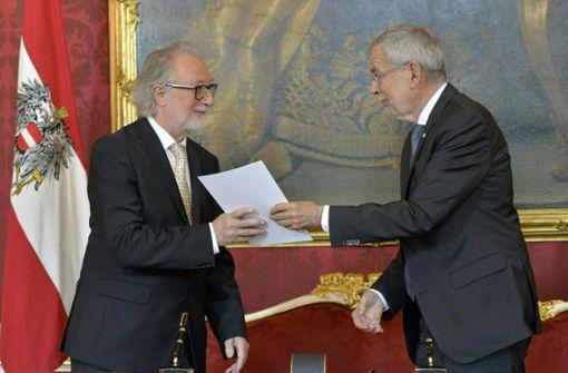 Vier neue Minister in Wien vereidigt