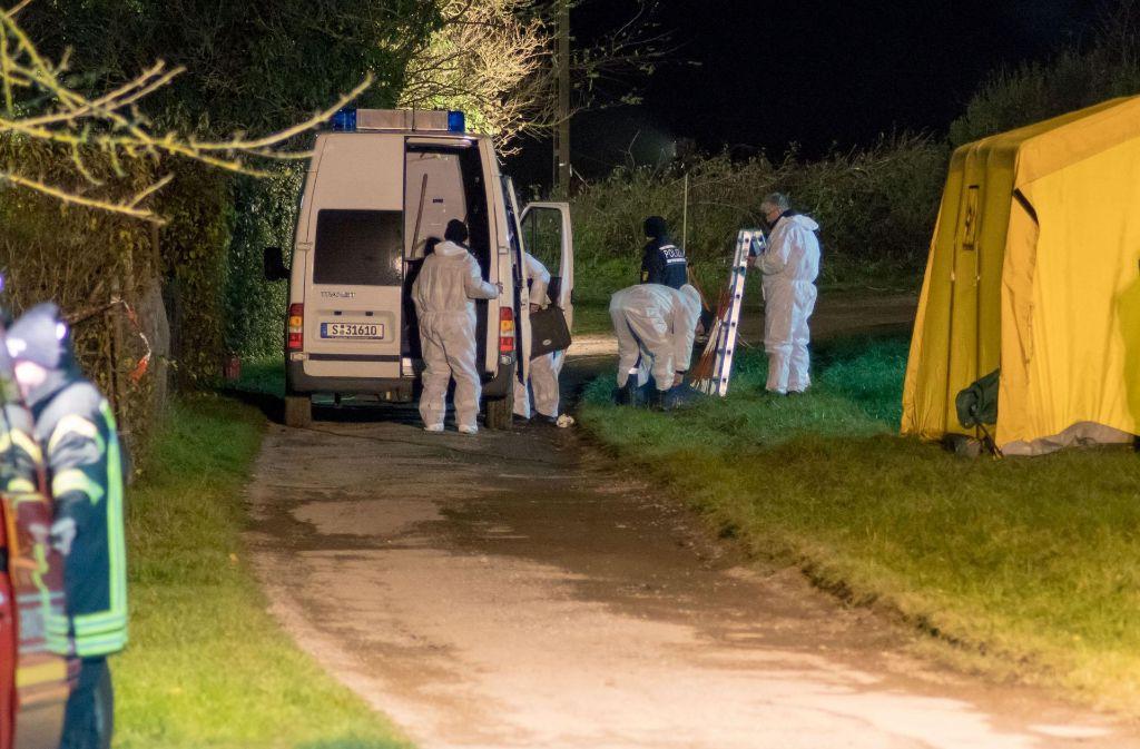 Die Leiche von Katharina K. ist am Mittwochnachmittag in Asperg gefunden worden. Foto: 7aktuell
