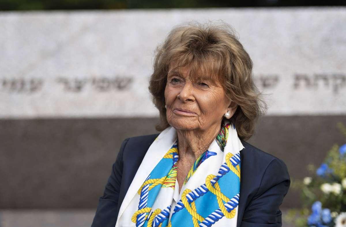 Charlotte Knobloch hat sich mit Fritz Keller ausgesprochen (Archivbild). Foto: imago images/Martin Hangen