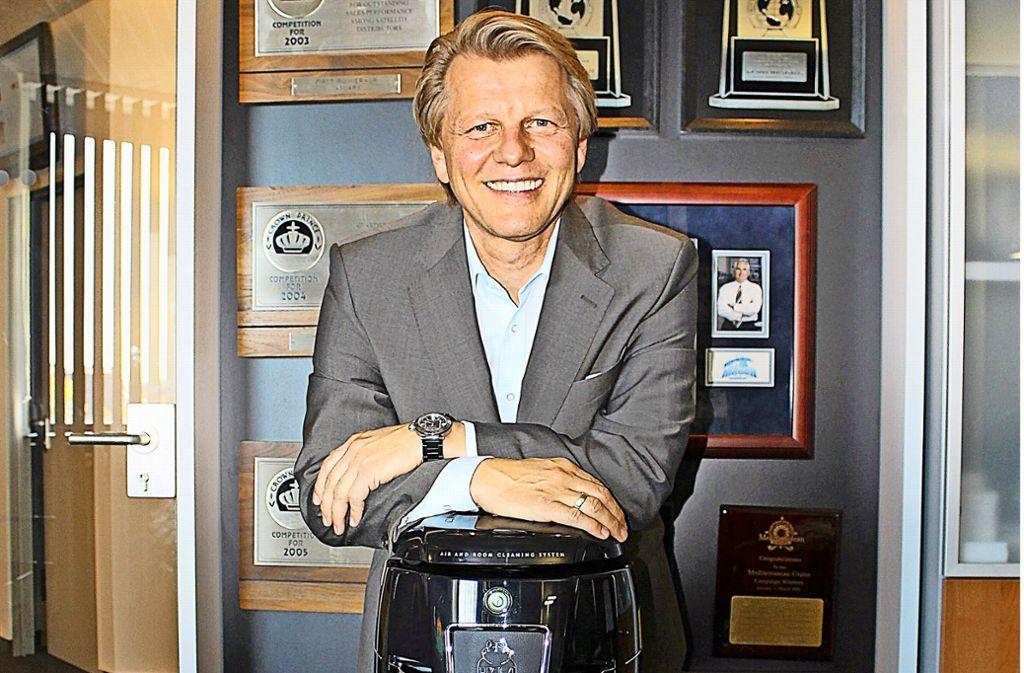 Michael  Hausenblas zeigte schon als Siebenjähriger Verkaufstalent. Foto: Caroline Holowiecki