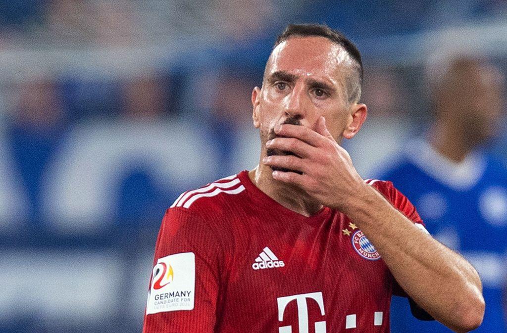 Wie lange Ribéry verletzt ausfällt, ließ der Klub offen. Foto: dpa