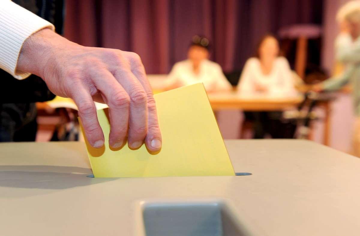 Am 25. November wird in Steinenbronn erneut gewählt. Foto: dpa/Bernd Weissbrod
