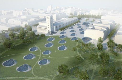 In der Stuttgarter City können durch S21 über 100 Hektar bisherige Gleisanlagen für die Stadtentwicklung genutzt werden Foto: Ingenhoven Architekts