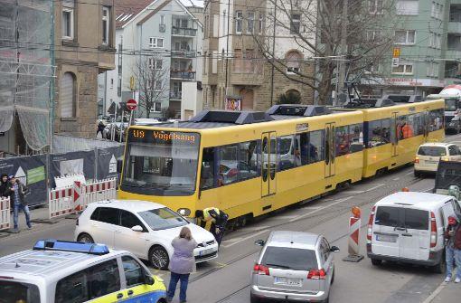 Zwei Verletzte bei Stadtbahn-Unfall