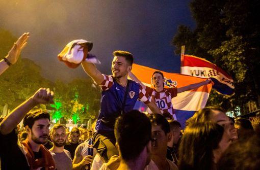 Ekstase auf der Theo: Kroaten feiern Finaleinzug