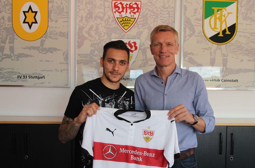 Anastasios Donis ist der nächste Neuzugang beim VfB Stuttgart. Foto: VfB Stuttgart
