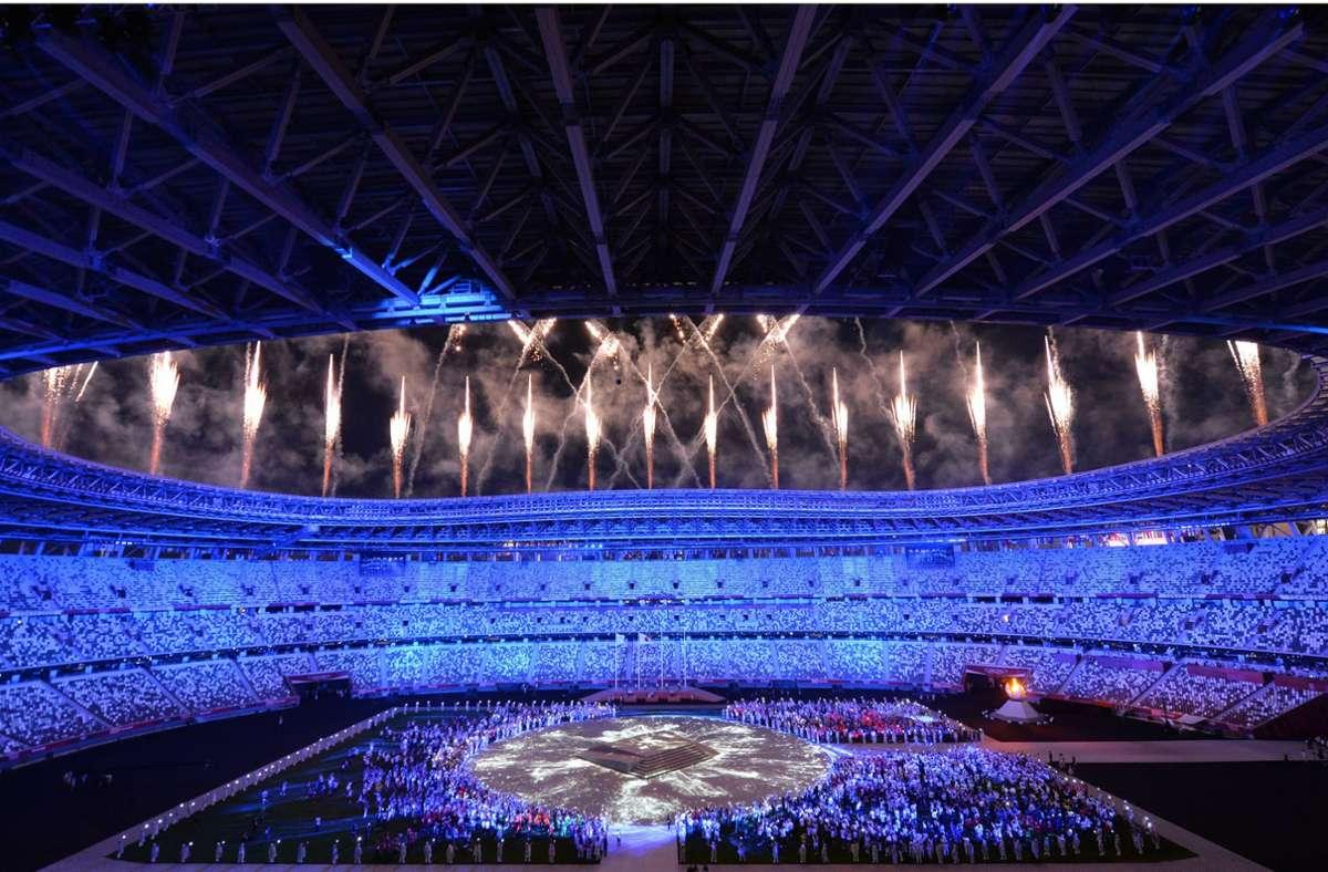 Mit einer großen Show endeten die Olympischen Spiele in Tokio. Foto: imago images/Belga/ROB WALBERS