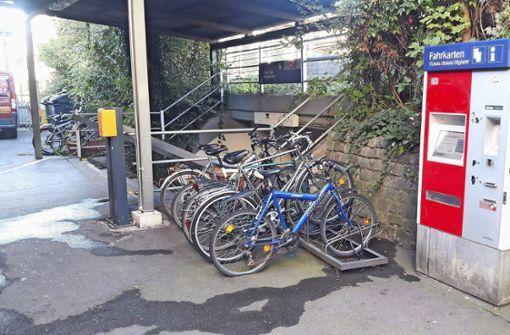 """Note """"mangelhaft"""" für Bahnhof  im Fahrradtest"""