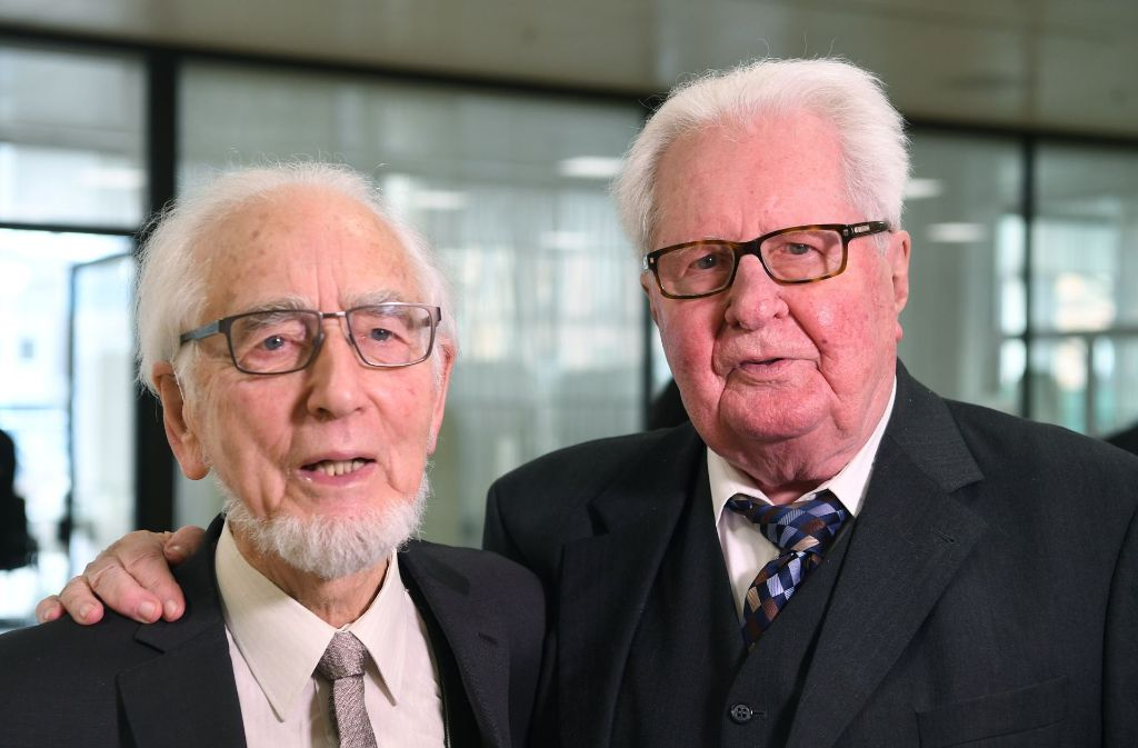 Sozialdemokratische Legenden: Erhard Eppler (links) und Hans-Jochen Vogel Foto: dpa