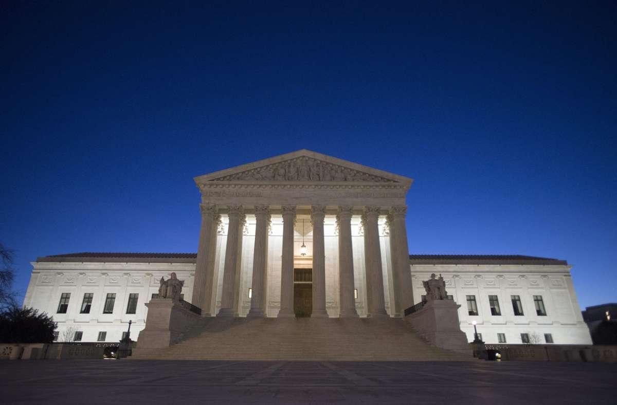 Der Sitz des Supreme Court in Washington. Foto: dpa/Michael Reynolds