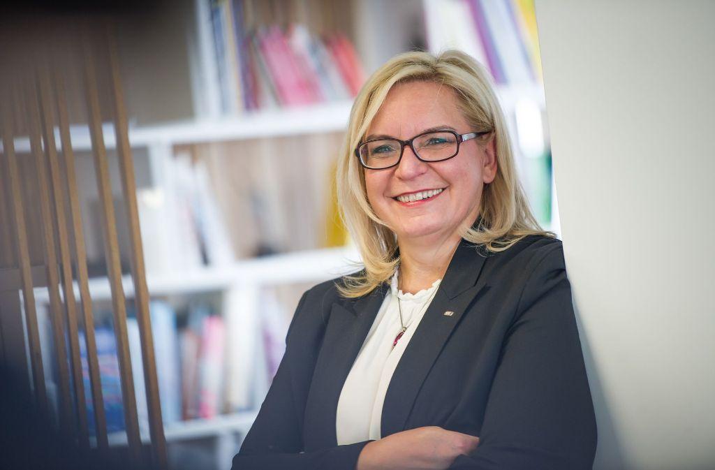 Eine Frau, die bei der Stuttgarter IT-Firma GFT für Innovationen sorgt: GFT-Chefin Marika Lulay. Foto: Lichtgut/Max Kovalenko