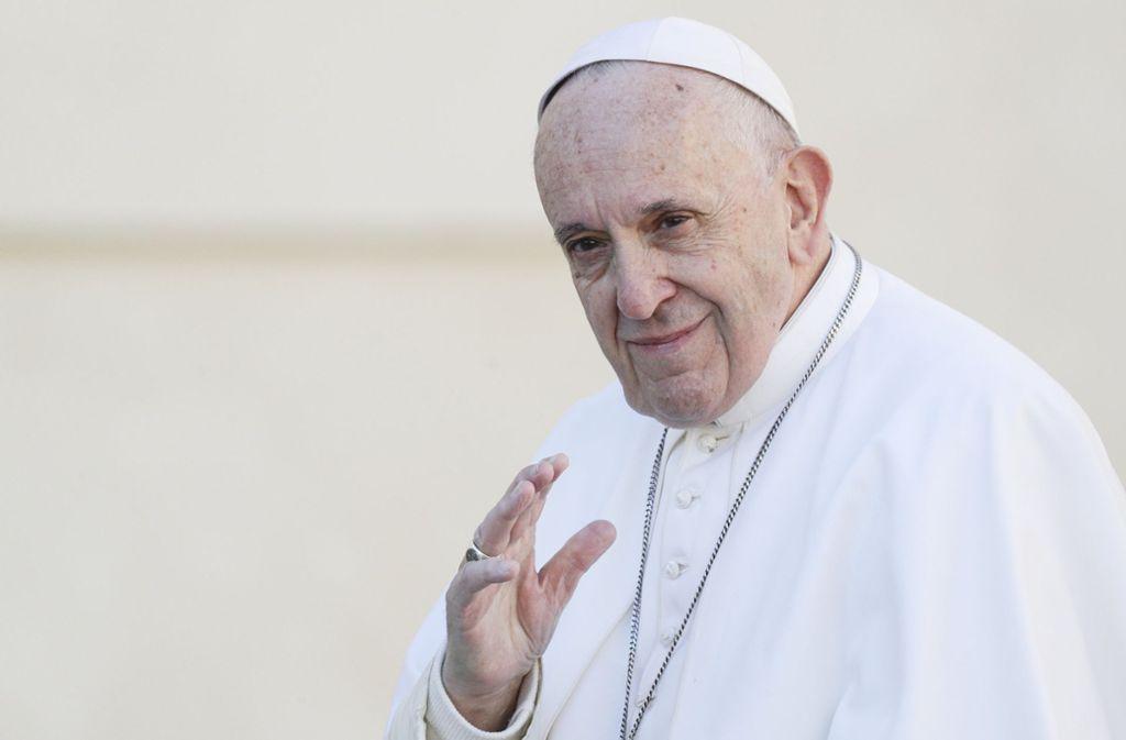 """Papst Franziskus hat vor Homosexualität als """"Modeerscheinung"""" gewarnt. Foto: AP"""