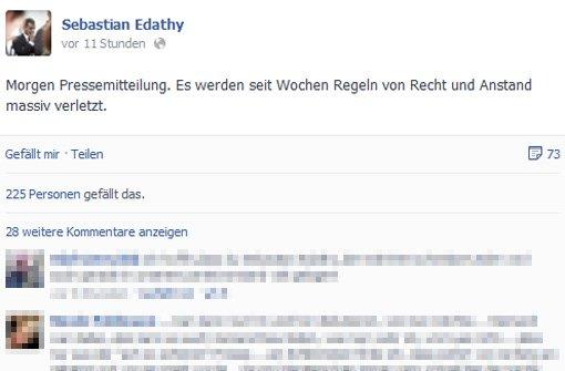 Edathy will sich per Pressemitteilung öffentlich äußern