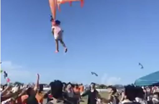 Dreijährige von Drachen meterweit in die Luft gezogen