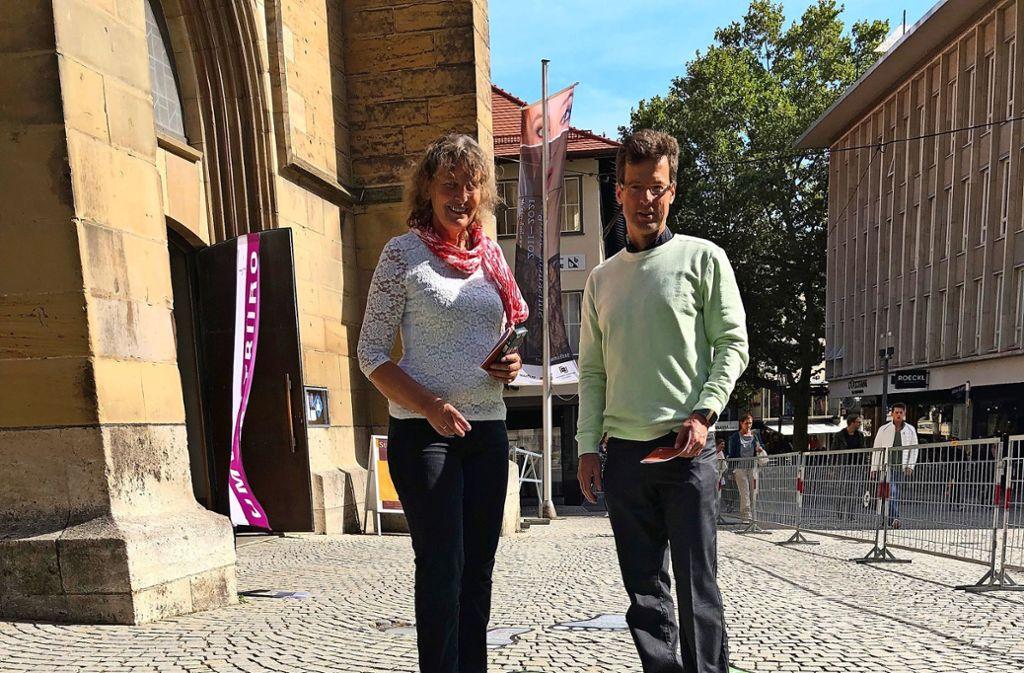 Auf neuen Wegen: Siglinde Hinderer und Matthias Vosseler Foto: Martin Haar