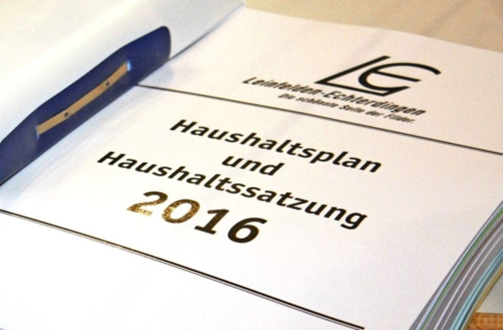 Der Haushalt der Stadt Leinfelden-Echterdingen für 2016 ist seit dieser Woche unter Dach und Fach. Foto: Natalie  Kanter