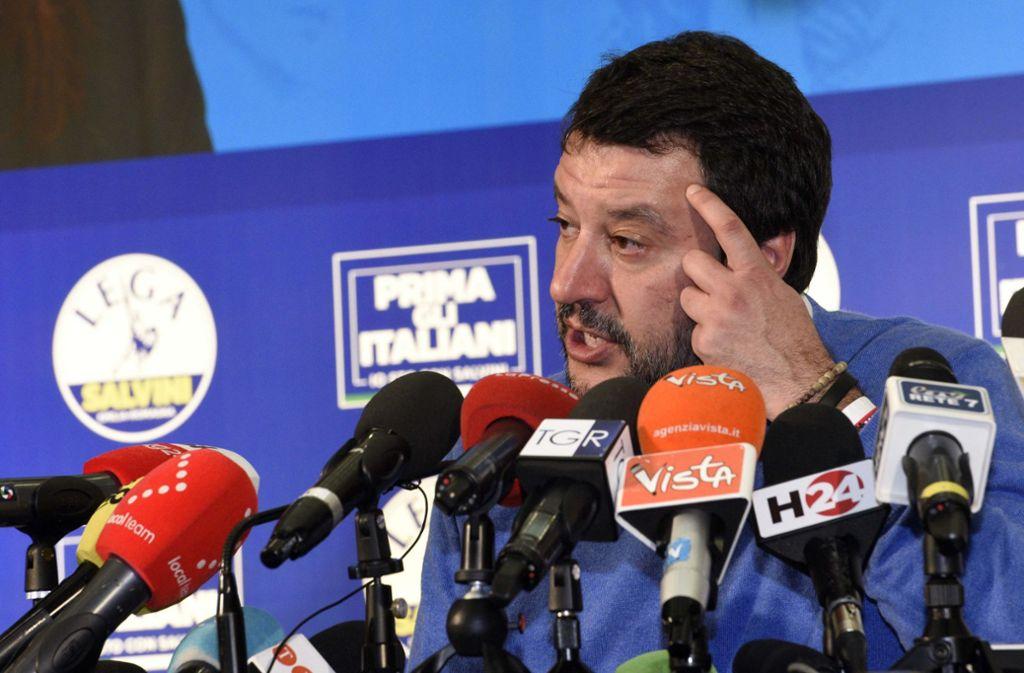 Matteo Salvini hat sich die Regionalwahl etwas anders vorgestellt. Foto: dpa/Stefano Cavicchi