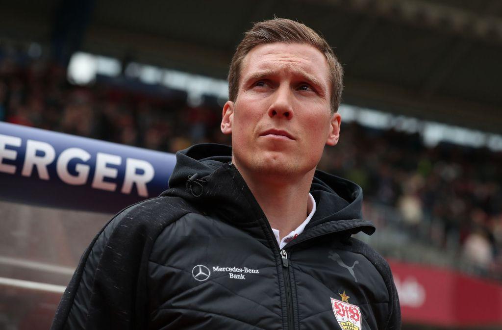 VfB-Coach Hannes Wolf hat sich am Freitag den Fragen der Medienvertreter zum bevorstehenden Spiel gegen Erzgebirge Aue gestellt. (Archivbild) Foto: dpa