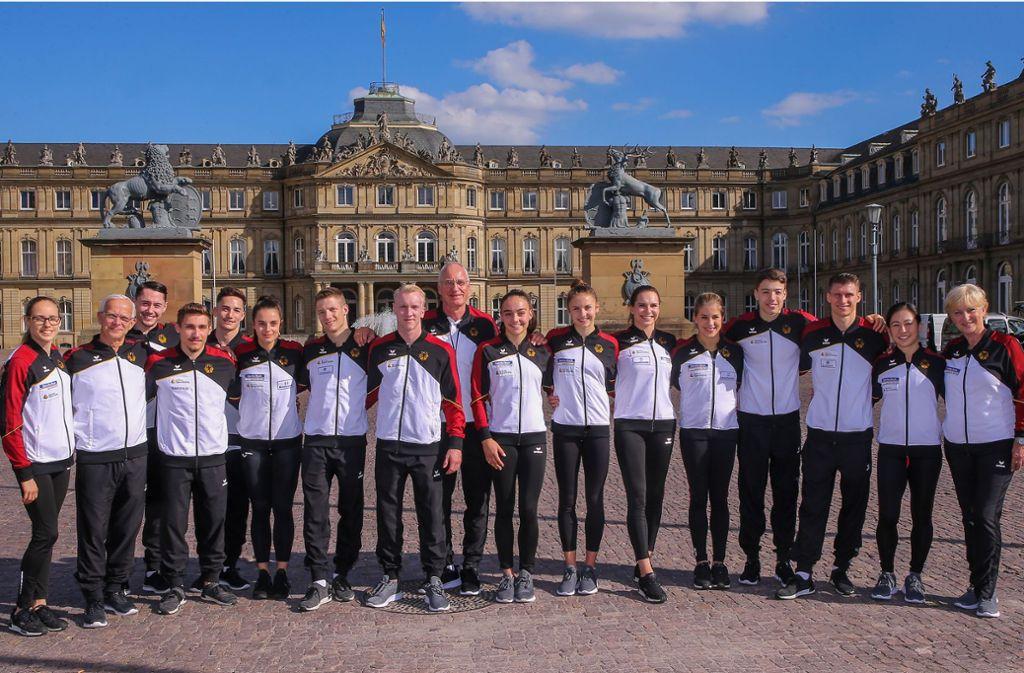 Möglichst viele Medaillen soll dieses Team bei der WM in Stuttgart sichern. Foto: Baumann