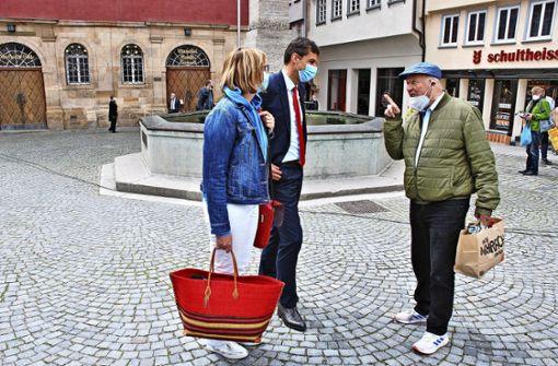 Matthias Klopfer  ist als Erster unterwegs