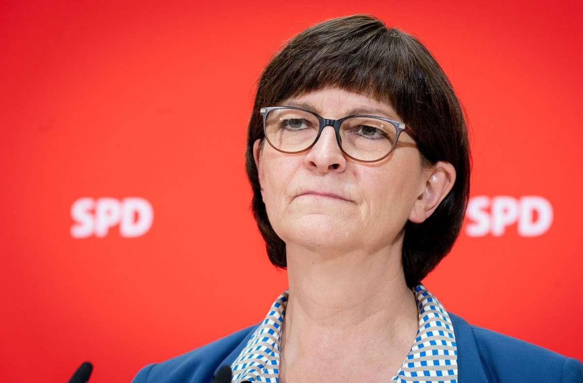 Saskia Esken führt die Landesliste der Sozialdemokraten in Baden-Württemberg an. (Archivbild) Foto: dpa/Kay Nietfeld