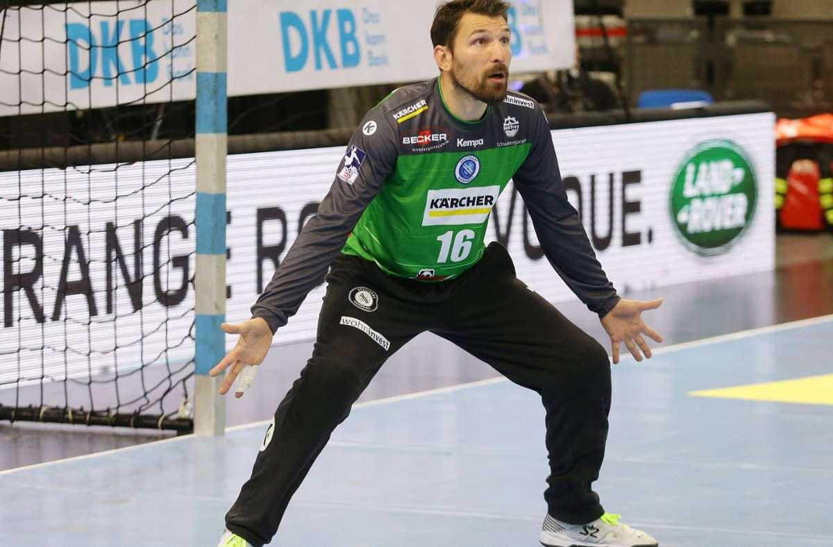 Primoz Prost spielte von 2013 bis 2019 bei Frisch Auf Göppingen, nun steht der Slowene beim TVB Stuttgart zwischen den Pfosten. Foto: Baumann
