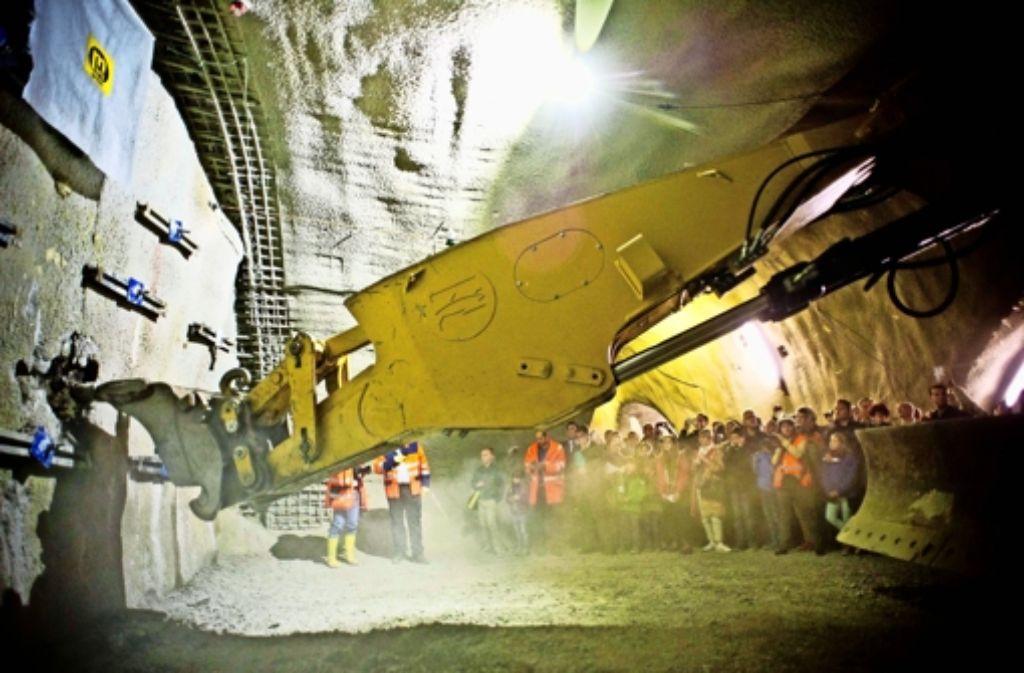 Nach dem Abschluss der Arbeiten soll der Verkehr von  2020 an jeweils zweispurig durch die beiden Tunnelröhren fließen. Foto: Lichtgut/Max Kovalenko