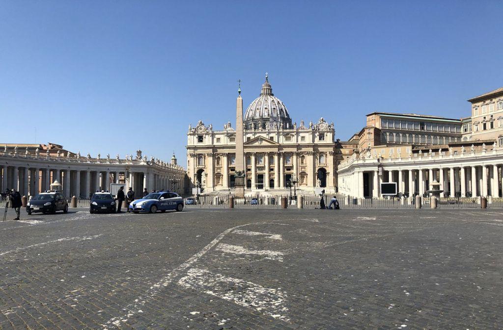 So ein Osterfest hat der Vatikan auch noch nicht erlebt. Foto: dpa/Petra Kaminski