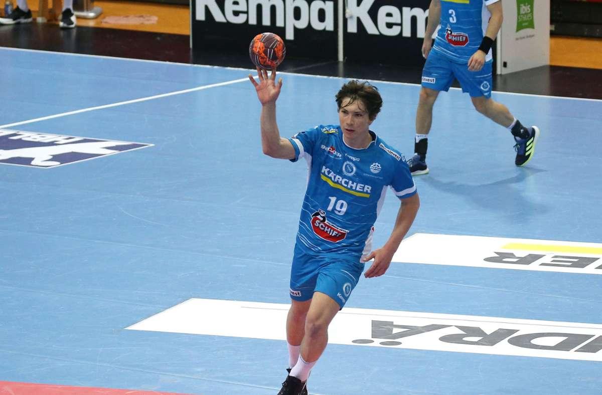 Fynn Nicolaus erzielt seinen ersten Bundesliga-Treffer – mit 17. Foto: Pressefoto Baumann