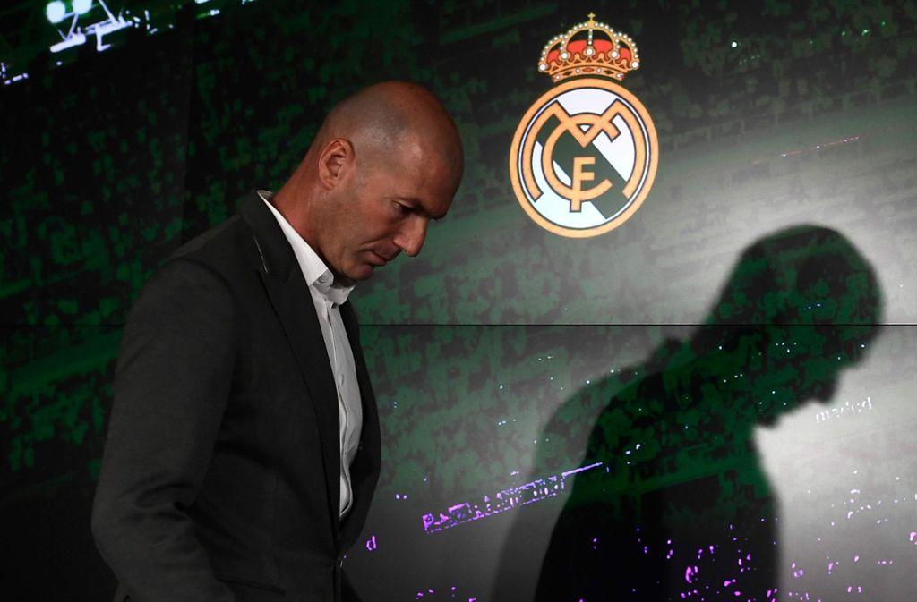 Zinédine Zidane ist zurück auf der Trainerbank von Real Madrid.Zinédine Zidane soll den Absturz von Real Madrid stoppen. Foto: AFP