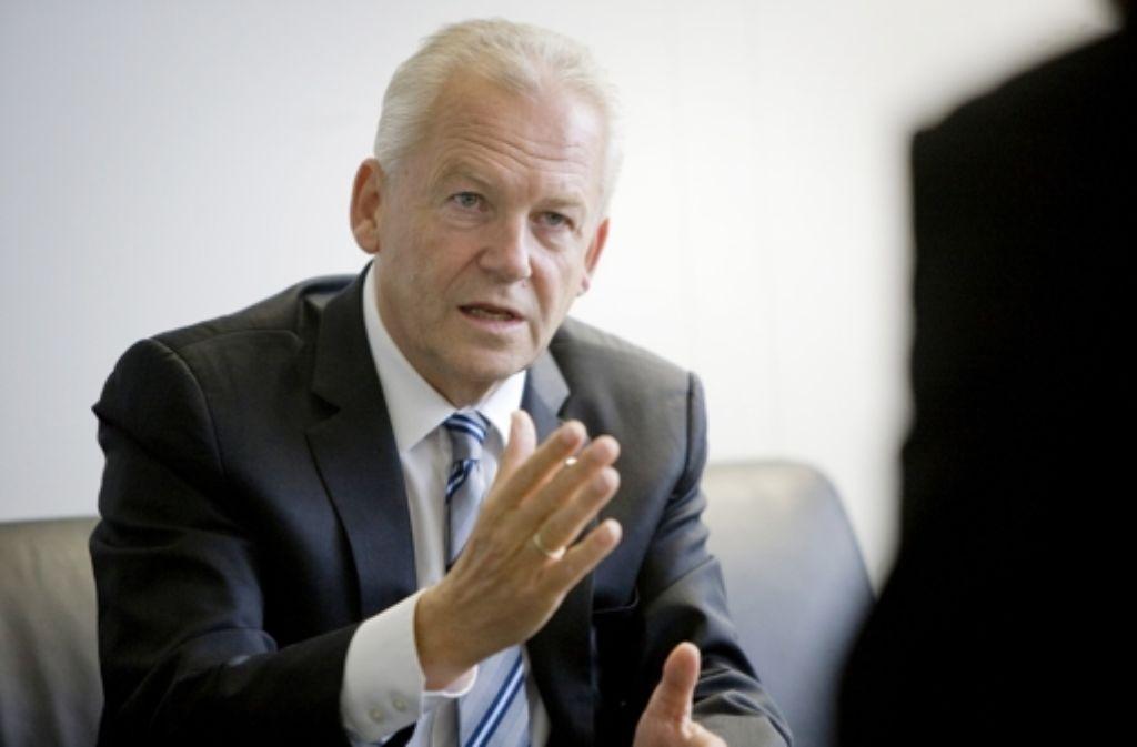 Bahn-Chef Rüdiger Grube zählt nicht zu den Teilnehmern der Konferenz. Foto: Steinert