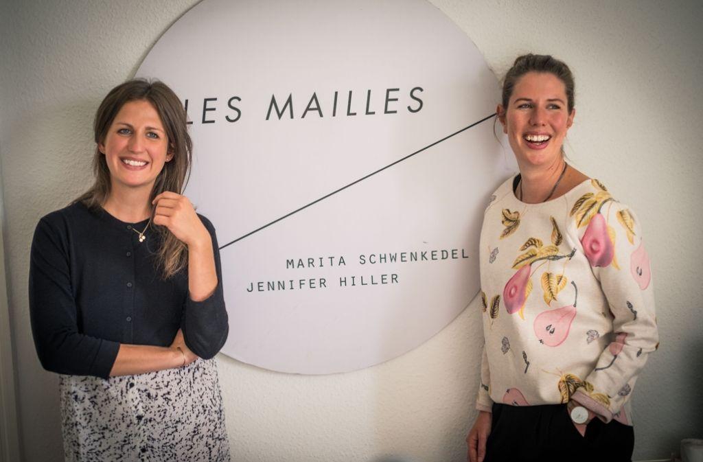 Die beiden Stuttgarter Designerinnen kreieren unter ihrem Label Les Mailles filigrane Schmuckstücke. Foto: Lichtgut/Max Kovalenko