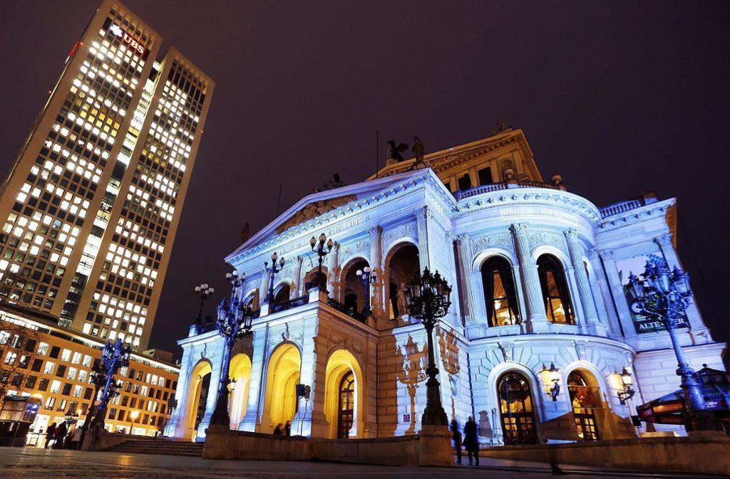 Frankfurt leuchtet dieses Jahr wieder beim Lichtfestival Luminale. Foto: AP