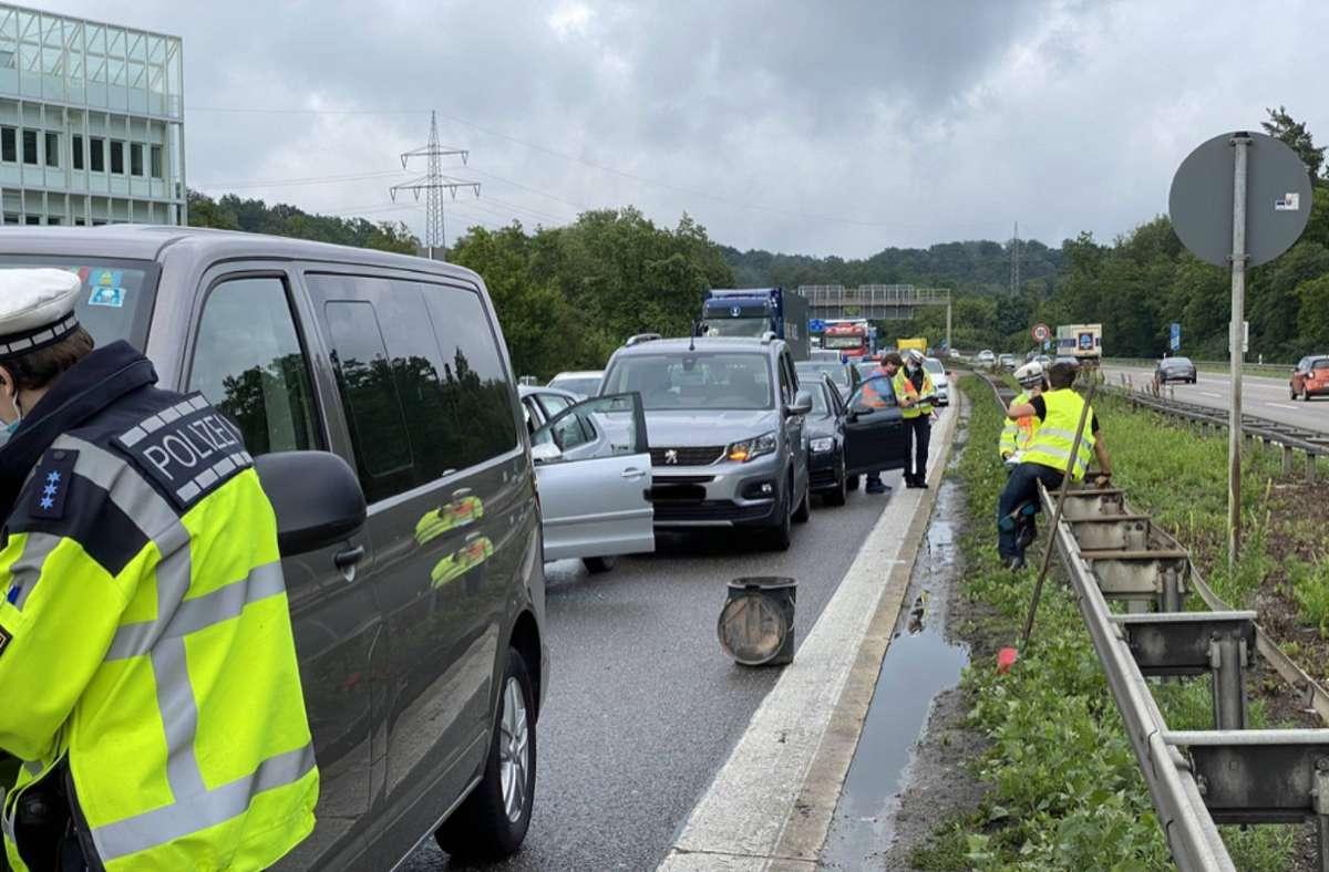 Über die Unfallursache herrschte bei der Polizei am frühen Dienstagabend noch keine Klarheit. Foto: 7aktuell.de/Moritz Bassermann